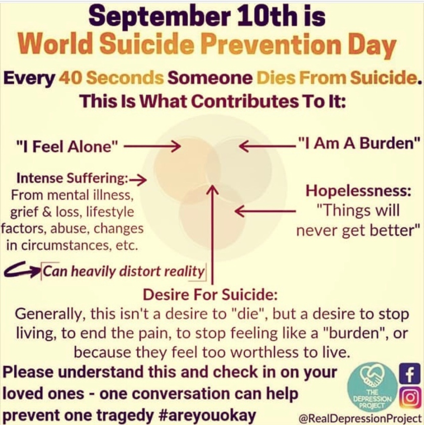 September 10 is World Suicide Prevention Day